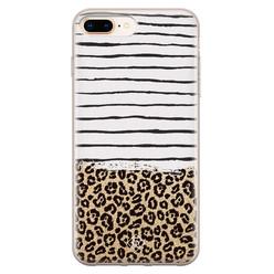 Casimoda iPhone 8 Plus/7 Plus siliconen hoesje - Leopard lines