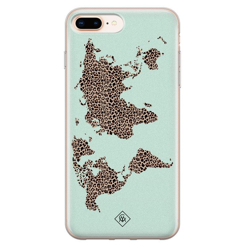 Casimoda iPhone 8 Plus/7 Plus siliconen hoesje - Wild world