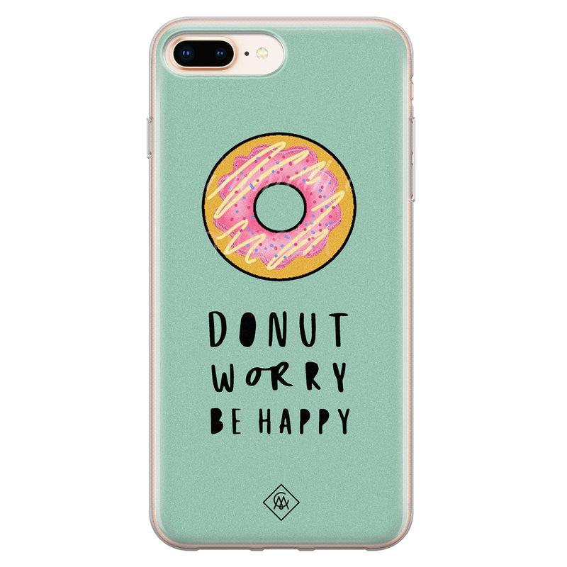 Casimoda iPhone 8 Plus/7 Plus siliconen hoesje - Donut worry