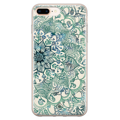 Casimoda iPhone 8 Plus/7 Plus siliconen hoesje - Mandala blauw