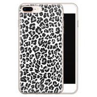 Casimoda iPhone 8 Plus/7 Plus siliconen telefoonhoesje - Luipaard grijs