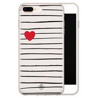 Casimoda iPhone 8 Plus/7 Plus siliconen hoesje - Heart queen