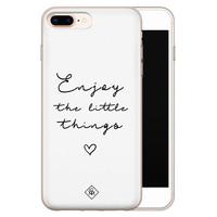 Casimoda iPhone 8 Plus/7 Plus siliconen hoesje - Enjoy life