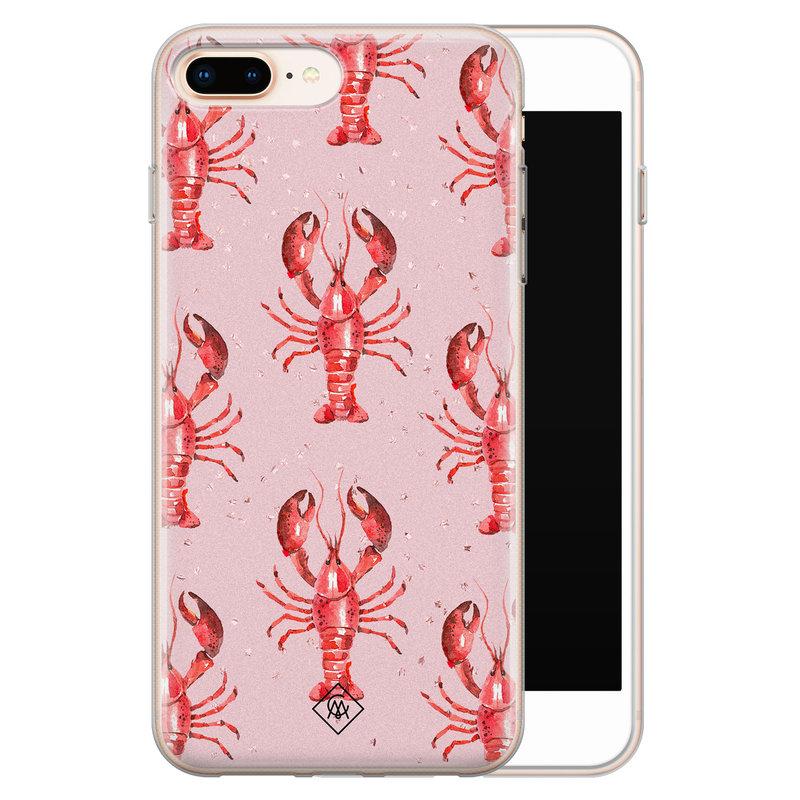 Casimoda iPhone 8 Plus/7 Plus siliconen telefoonhoesje - Lobster all the way