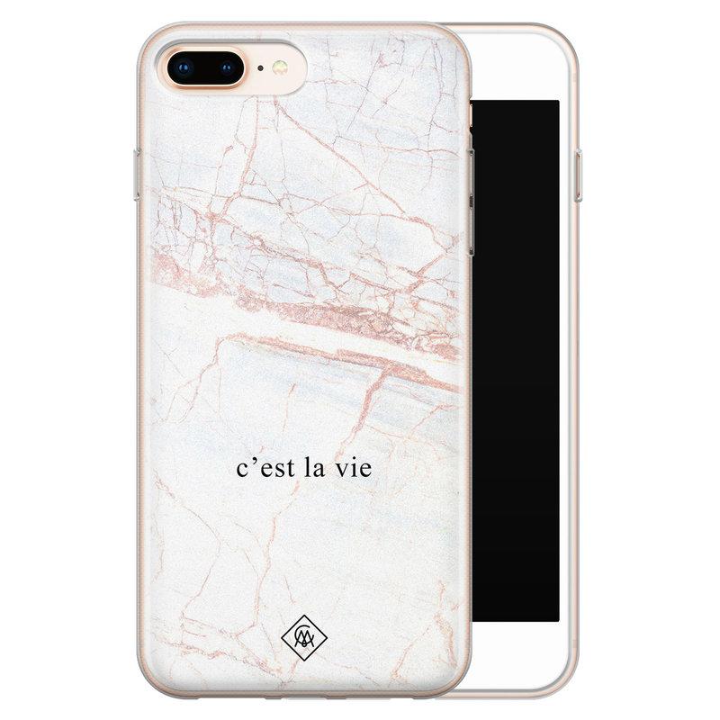 Casimoda iPhone 8 Plus/7 Plus siliconen telefoonhoesje - C'est la vie