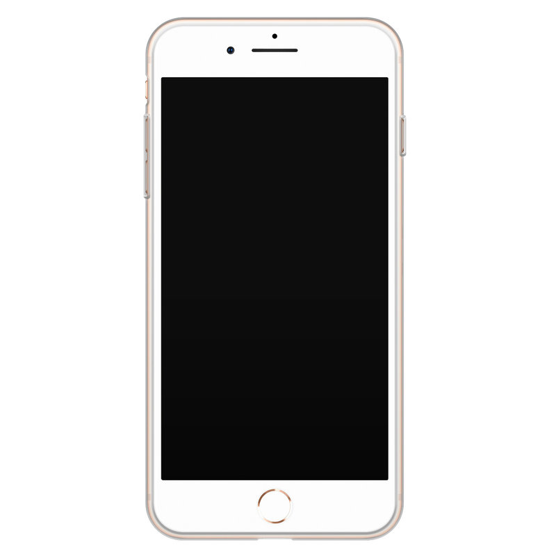 Casimoda iPhone 8 Plus/7 Plus siliconen telefoonhoesje - Palm leaves silhouette