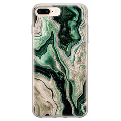 Casimoda iPhone 8 Plus/7 Plus siliconen hoesje - Green waves