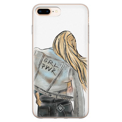 Casimoda iPhone 8 Plus/7 Plus siliconen hoesje - GRL PWR