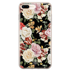 Casimoda iPhone 8 Plus/7 Plus siliconen hoesje - Flowerpower