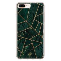 Casimoda iPhone 8 Plus/7 Plus siliconen hoesje - Abstract groen