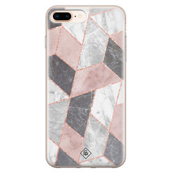 Casimoda iPhone 8 Plus/7 Plus siliconen hoesje - Stone grid