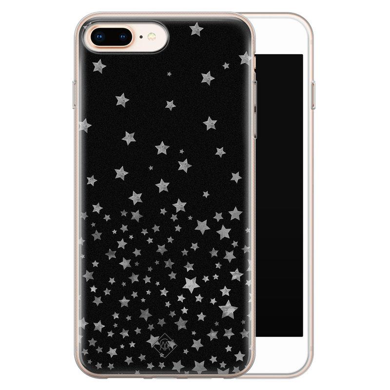 Casimoda iPhone 8 Plus/7 Plus siliconen hoesje - Falling stars
