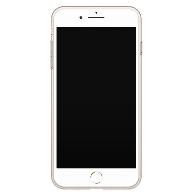 Casimoda iPhone 8 Plus/7 Plus siliconen hoesje - Luipaard marmer mint