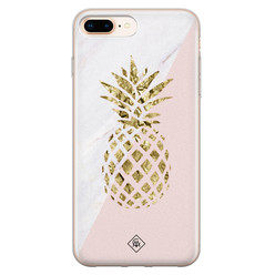 Casimoda iPhone 8 Plus/7 Plus siliconen hoesje - Ananas
