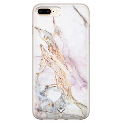 Casimoda iPhone 8 Plus/7 Plus siliconen hoesje - Parelmoer marmer