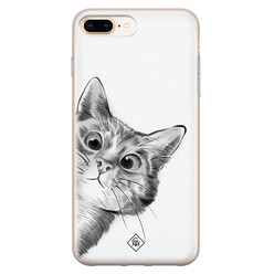 Casimoda iPhone 8 Plus/7 Plus siliconen hoesje - Peekaboo