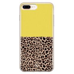 Casimoda iPhone 8 Plus/7 Plus siliconen hoesje - Luipaard geel