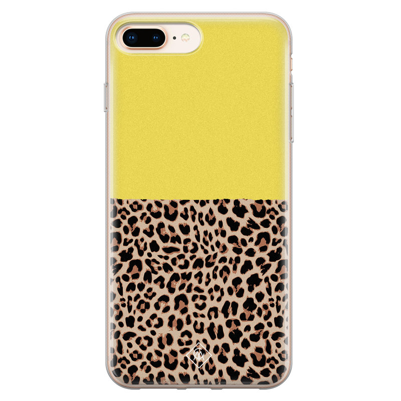 Casimoda iPhone 8 Plus/7 Plus siliconen hoesjje - Luipaard geel