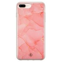 Casimoda iPhone 8 Plus/7 Plus siliconen hoesje - Marmer roze