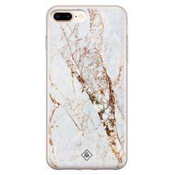 Casimoda iPhone 8 Plus/7 Plus siliconen hoesje - Marmer goud