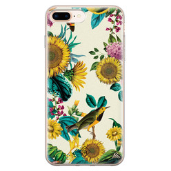 Casimoda iPhone 8 Plus/7 Plus siliconen hoesje - Sunflowers
