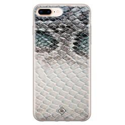 Casimoda iPhone 8 Plus/7 Plus siliconen hoesje - Oh my snake