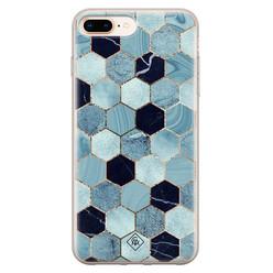 Casimoda iPhone 8 Plus/7 Plus siliconen hoesje - Blue cubes