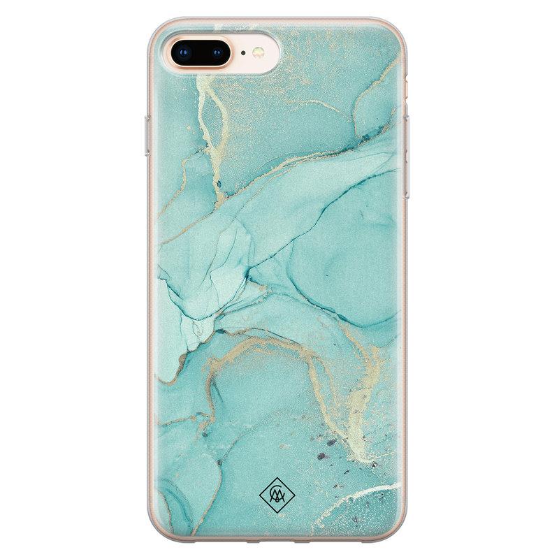 Casimoda iPhone 8 Plus/7 Plus siliconen hoesje - Touch of mint