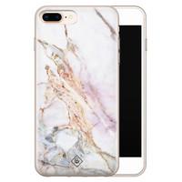 Casimoda iPhone 8 Plus/7 Plus siliconen telefoonhoesje - Parelmoer marmer