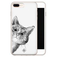 Casimoda iPhone 8 Plus/7 Plus siliconen hoesje - Peekaboo