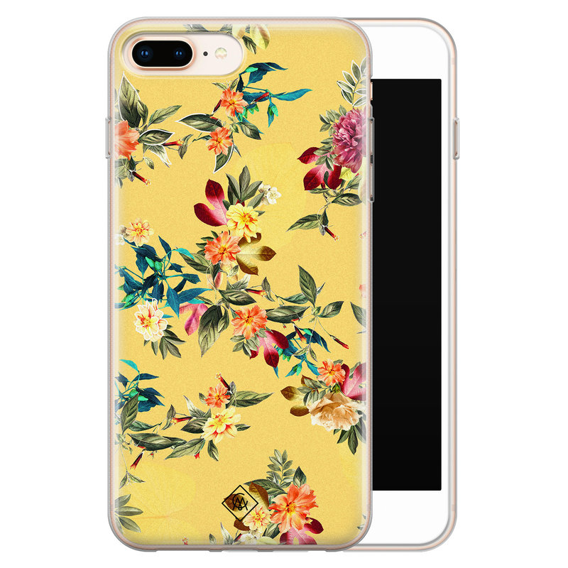 Casimoda iPhone 8 Plus/7 Plus siliconen hoesje - Floral days