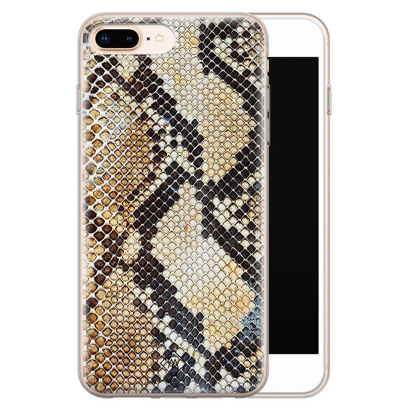 Casimoda iPhone 8 Plus/7 Plus siliconen hoesje - Golden snake