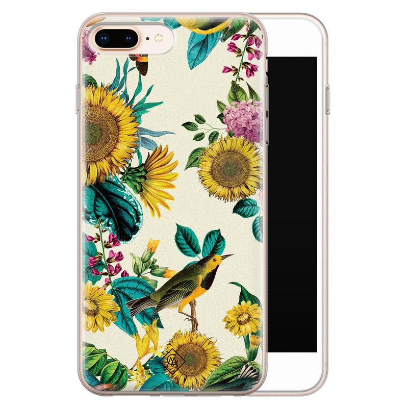 Casimoda iPhone 8 Plus/7 Plus siliconen hoesje - Sunflowers