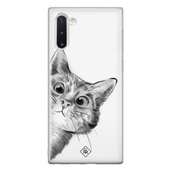 Casimoda Samsung Galaxy Note 10 siliconen hoesje - Peekaboo