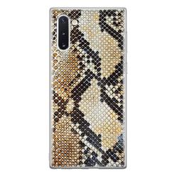 Casimoda Samsung Galaxy Note 10 siliconen hoesje - Golden snake