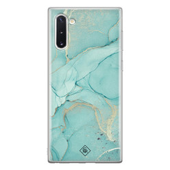 Casimoda Samsung Galaxy Note 10 siliconen hoesje - Touch of mint