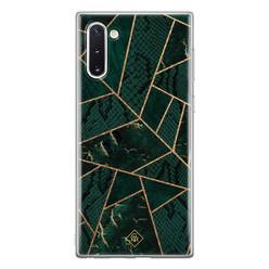 Casimoda Samsung Galaxy Note 10 siliconen hoesje - Abstract groen