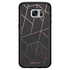 Casimoda Samsung Galaxy S7 hoesje - Marble grid