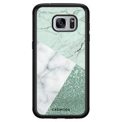 Casimoda Samsung Galaxy S7 hoesje - Minty marmer collage