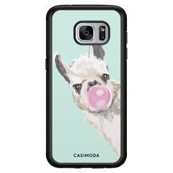 Casimoda Samsung Galaxy S7 hoesje - Retro lama