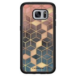 Casimoda Samsung Galaxy S7 hoesje - Cubes art
