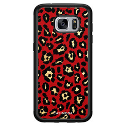 Casimoda Samsung Galaxy S7 hoesje - Luipaard rood