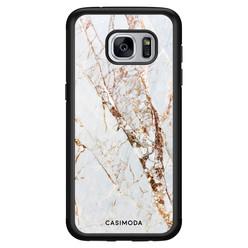 Casimoda Samsung Galaxy S7 hoesje - Marmer goud