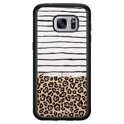 Casimoda Samsung Galaxy S7 hoesje - Leopard lines