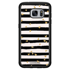 Casimoda Samsung Galaxy S7 hoesje - Hart streepjes