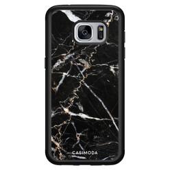 Casimoda Samsung Galaxy S7 hoesje - Marmer zwart