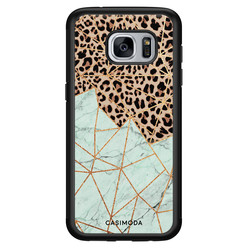 Casimoda Samsung Galaxy S7 hoesje - Luipaard marmer mint