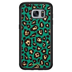 Casimoda Samsung Galaxy S7 hoesje - Luipaard groen