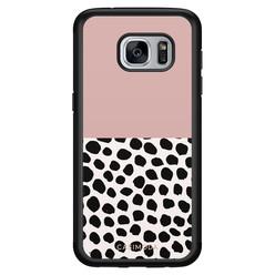 Casimoda Samsung Galaxy S7 hoesje - Pink dots