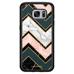 Casimoda Samsung Galaxy S7 hoesje - Marmer triangles